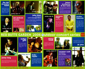 2006 Red Butte Concert Series Lineup Poster
