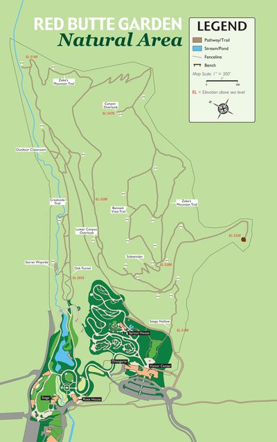 Map of Red Butte Garden natural area